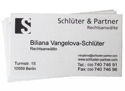 Visitenkarte RAin Vangelova-Schlüter